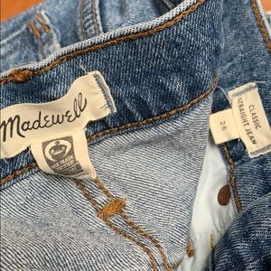 Madewell Classic Straight size 26